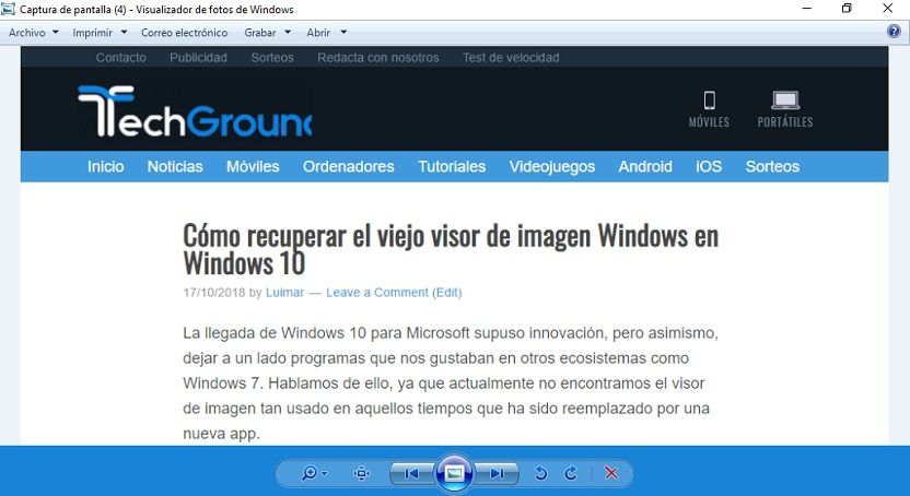 Cómo recuperar el viejo visualizador de fotos de Windows en Windows 10