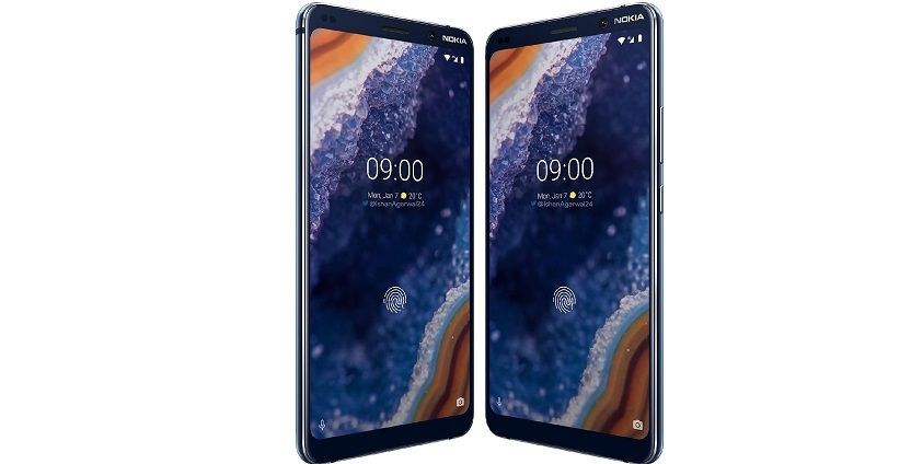 Parte frontal del Nokia 9 Pure View
