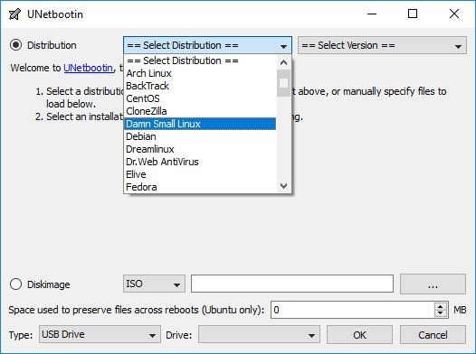 ootear pendrive con UNetbootin